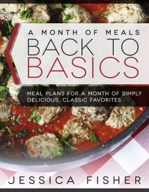 cover image of back to basics meal plan