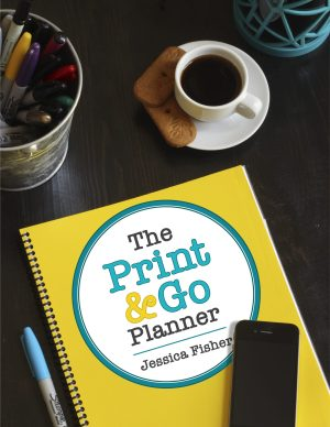 cover image of print & go planner