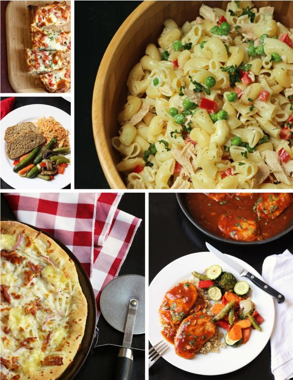 collage of 5 meals included in plan