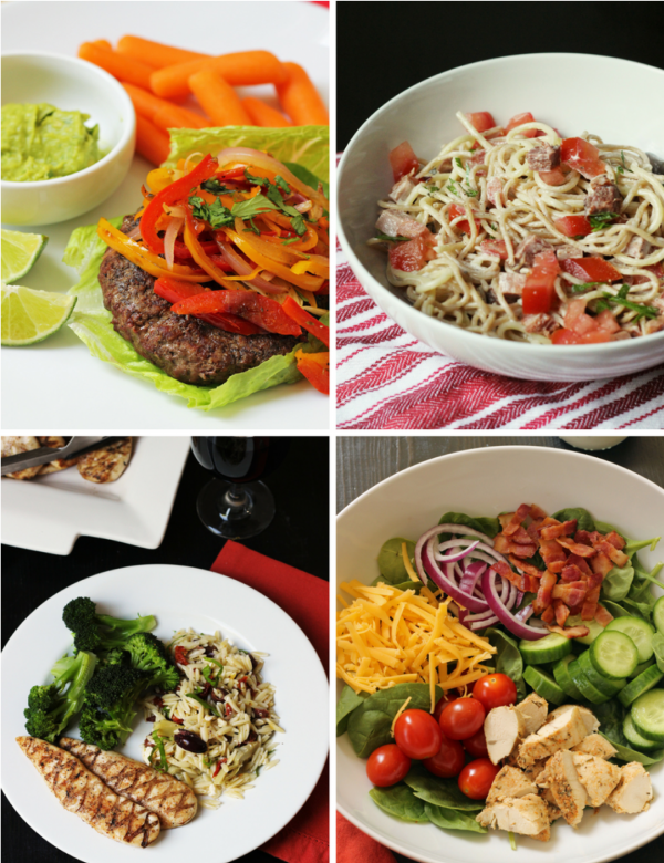 collage of week 3 meals