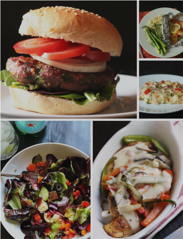 collage of week 4 meals