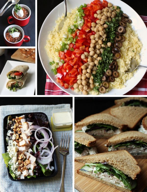 collage of recipes in week 1