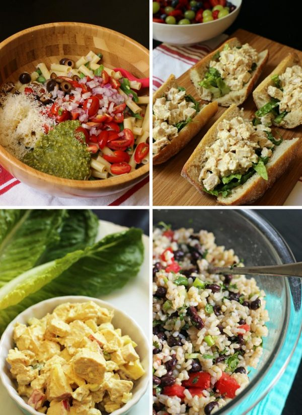 collage of recipes in week 2